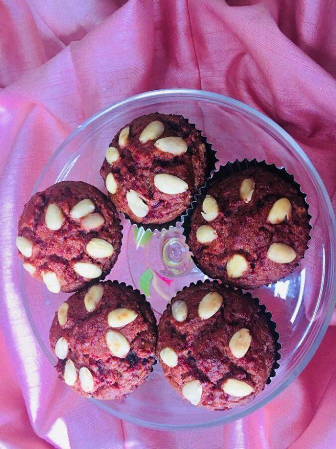Banana Beet Muffins