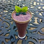 Blueberry Cardamom Avocado Lassi