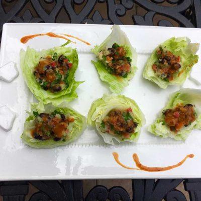 sweet potato black bean lettuce wrap recipe