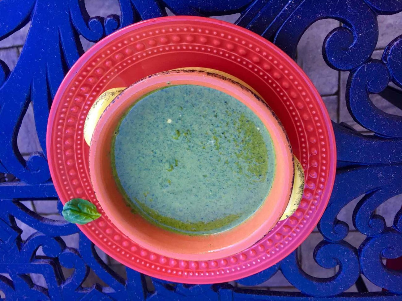 Swiss Chard Bok Choy Spinach Soup with Yogurt