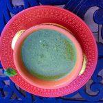 Swiss Chard Bok Choy Spinach Soup with Yogurt