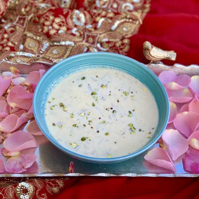 rose & cardamom quinoa kheer pudding recipe