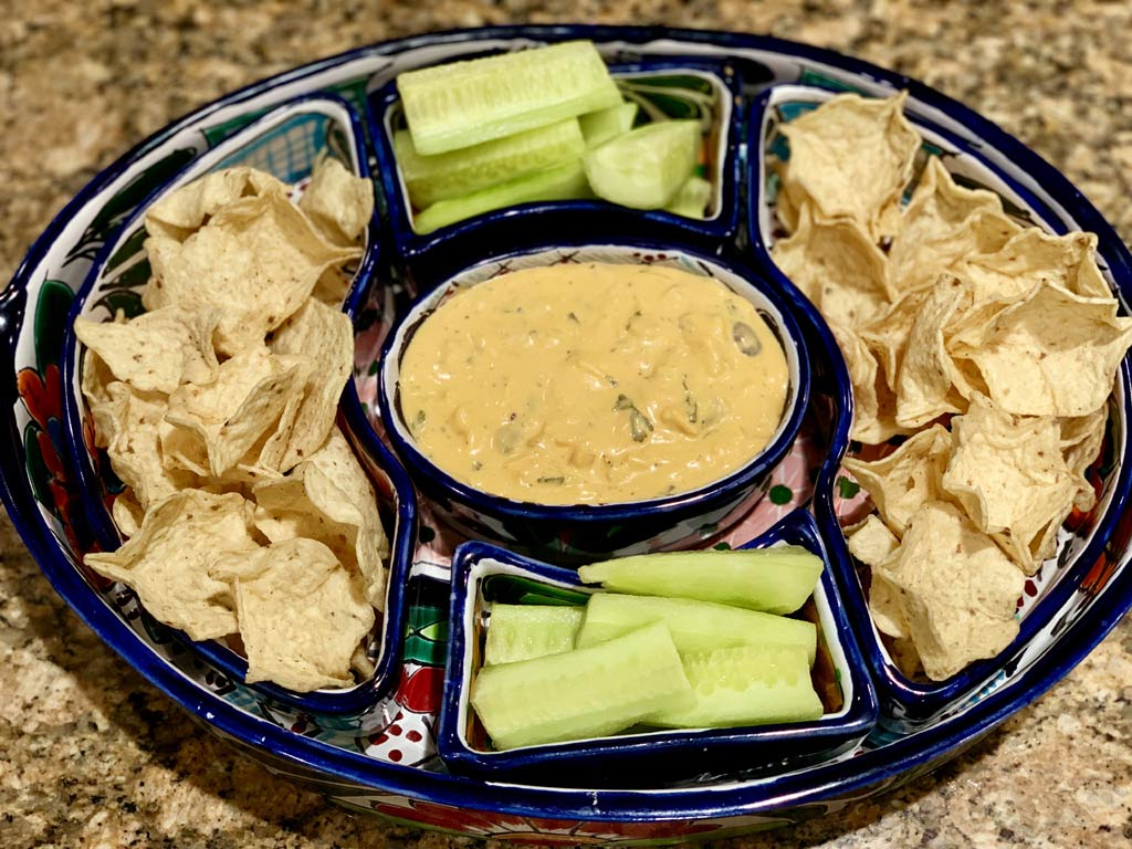 Vegetarian Cheesy Buffalo Dip